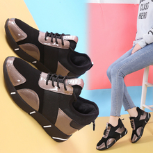 Women's shoes autumn shoes running casual shoes spring versatile 2019 new Korean New Plush black sneakers