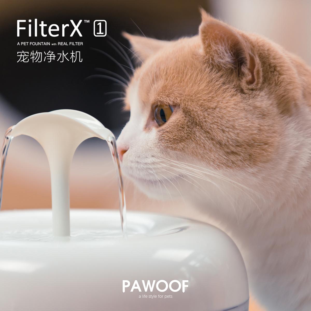 美国酷极 FilterX猫咪饮水机自动循环静音过滤杂质宠物饮水器净水