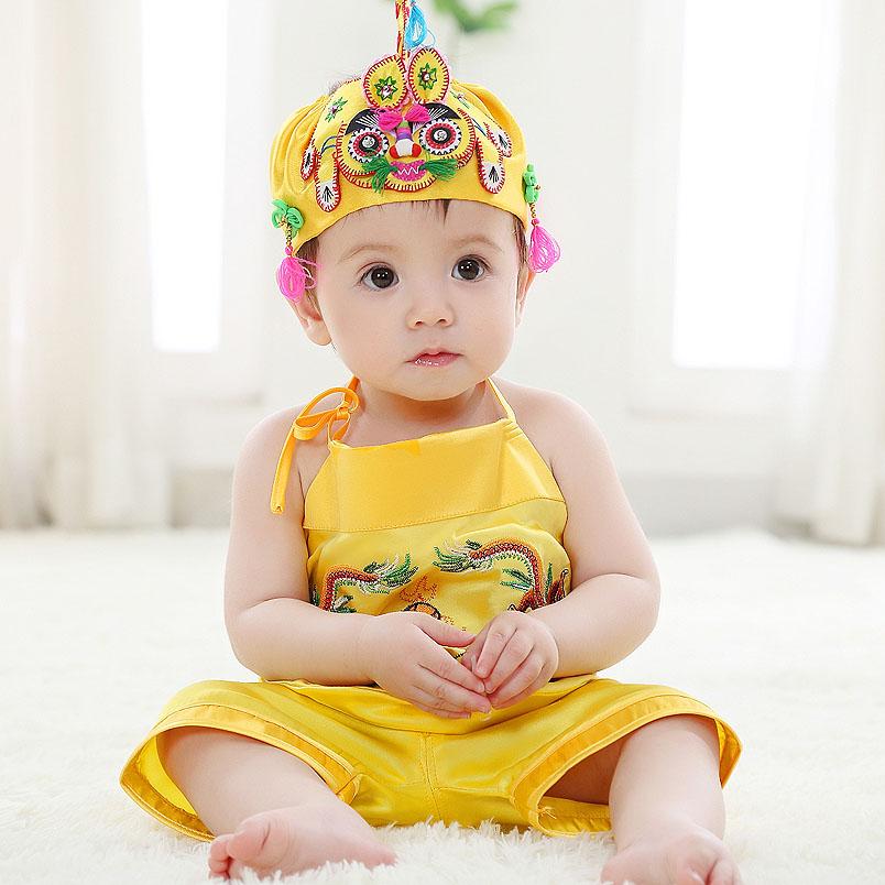 冒泡泡 寶寶 虎頭帽 嬰兒帽 百歲周歲春秋虎頭帽 囟門帽