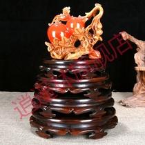 鱼缸底座托架实木质佛像香炉工艺品葫芦花瓶石头花盆奇石摆件木座