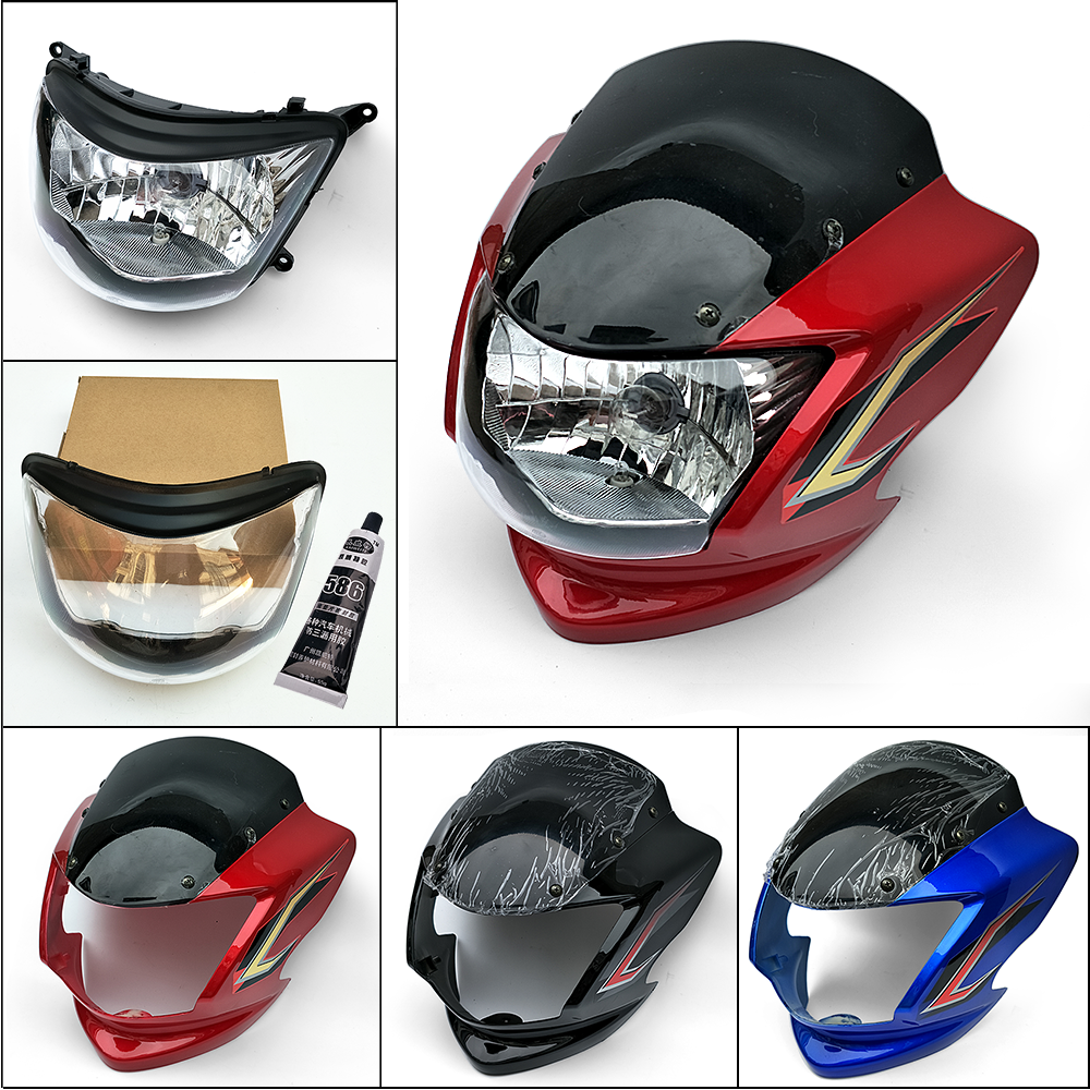 包邮轻骑悦胜QM125-3K摩托车大灯EN125-3-3E/EN150导流罩大灯头罩