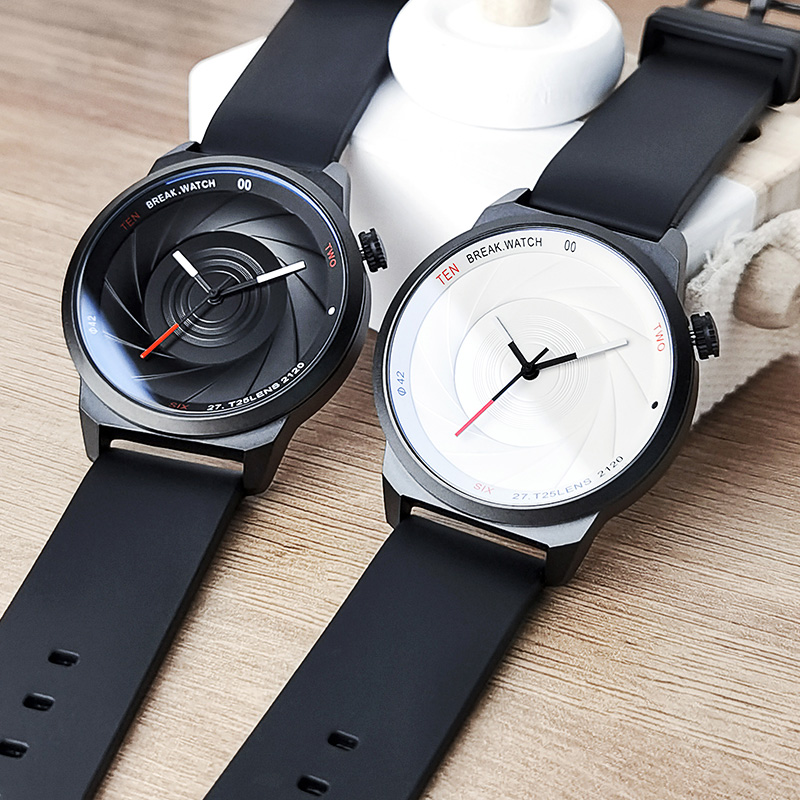 Creative watch boy student trend fashion Korean version simple optical phantom waterproof quartz watch 2019 new men