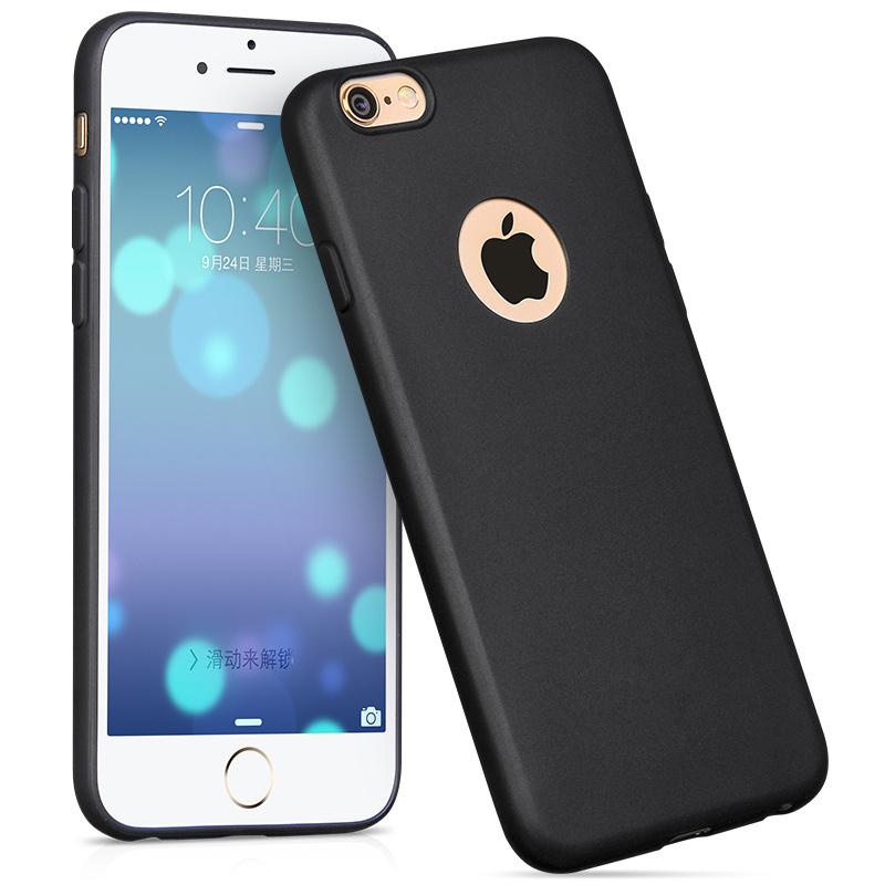 浩酷蘋果6P手機殼磨砂軟殼超薄iPhone全包防摔6plus保護套黑簡約