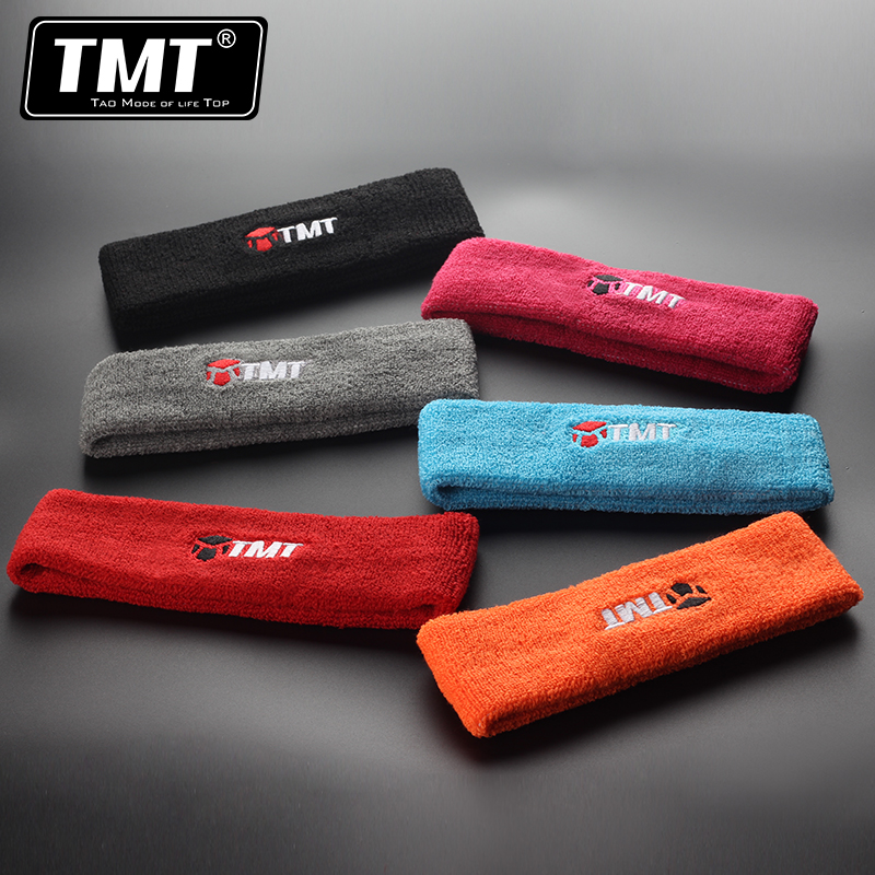 TMT motion guide sweat sweat turban headband hair bands for men and women tennis treadmill fitness forehead hair care equipment with basketball