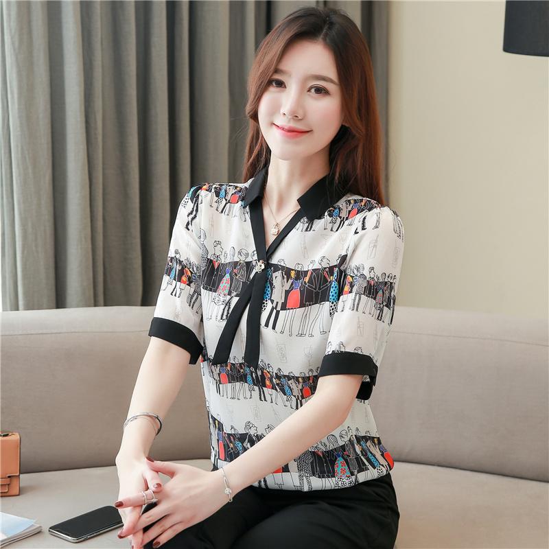 杭州重磅真丝衬衫遮肚女2020夏季新款短袖拼接系带桑蚕丝气质上衣
