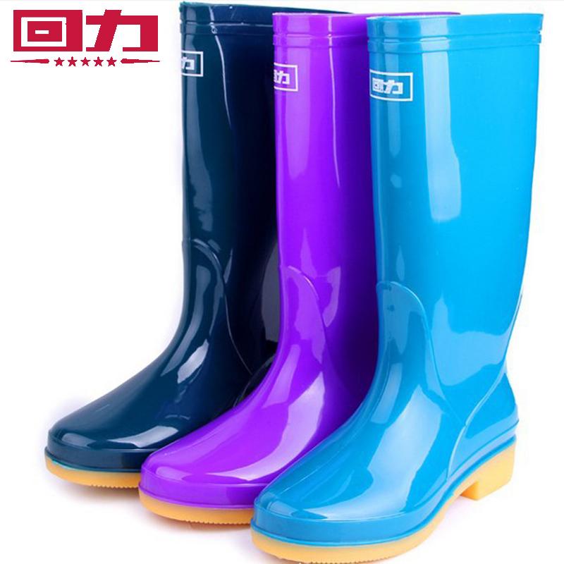 回力雨鞋水鞋雨靴女款防水防滑时尚简约雨靴中高筒女水鞋水靴-813