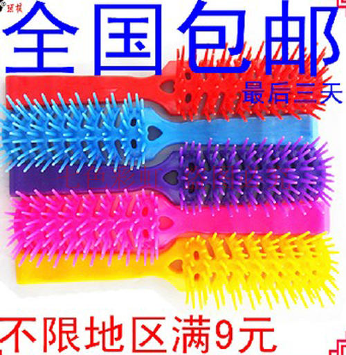 Black color comb wig styling comb rib comb curly ancient hard teeth multi tooth plastic
