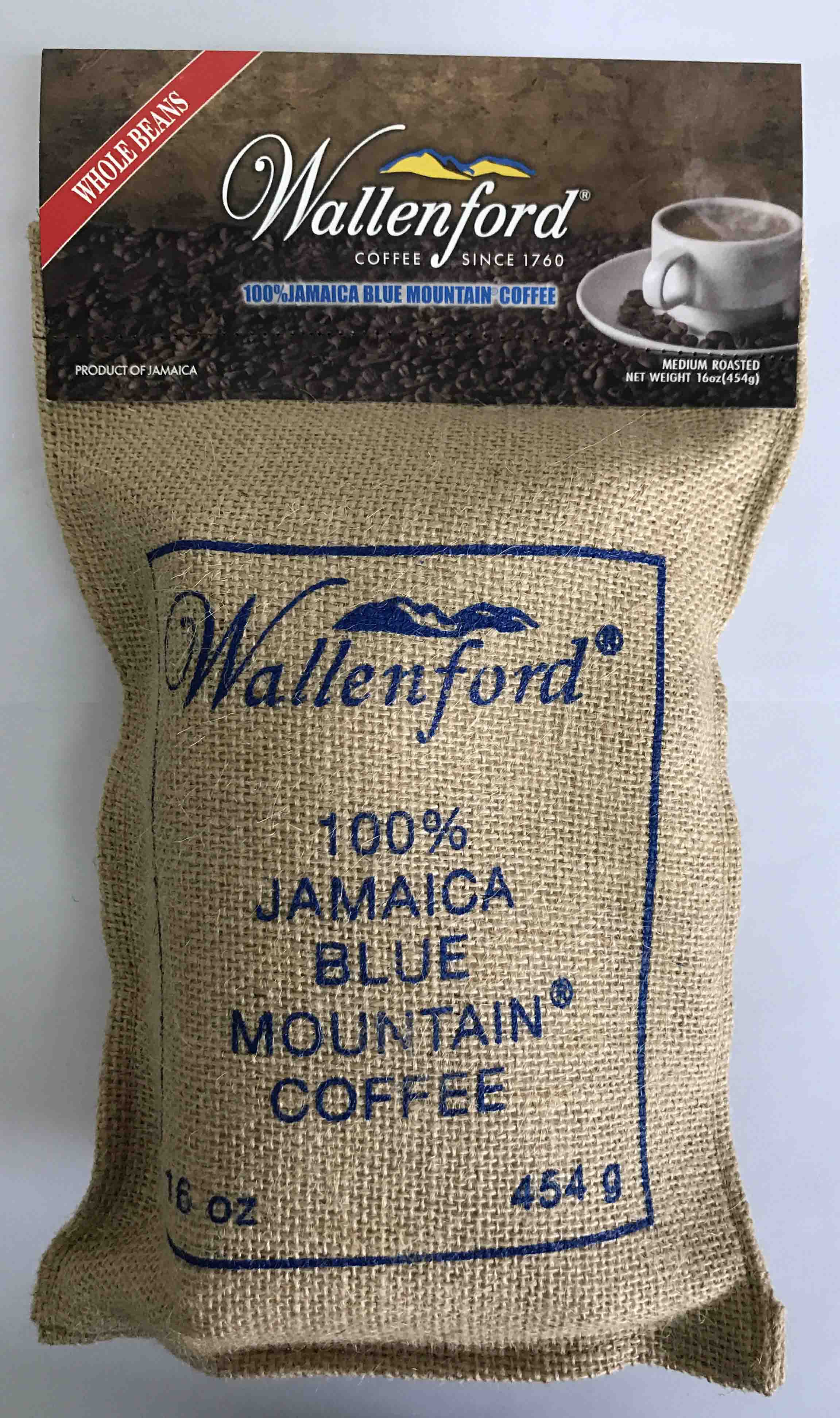 Agent direct selling original imported wallenford ㊣ wallenford Jamaica Blue Mountain coffee beans 454g