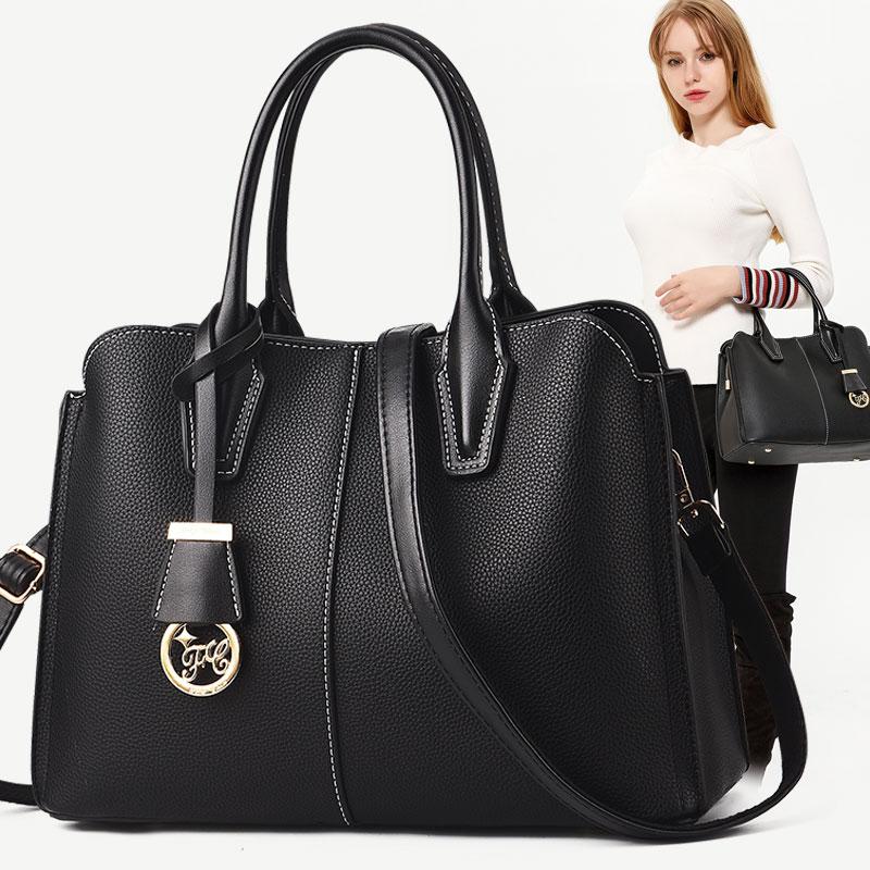 女士2019新款韩版大容量简约手提包不包邮