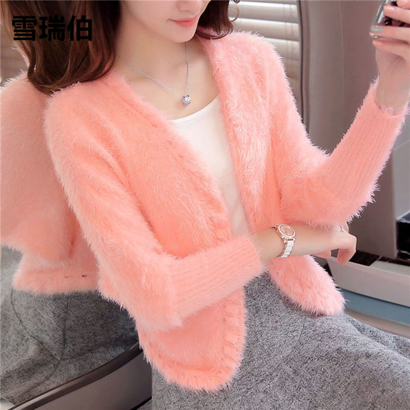 Sherry spring and autumn new coat womens loose large short knitwear sweater cardigan top shawl womens wear