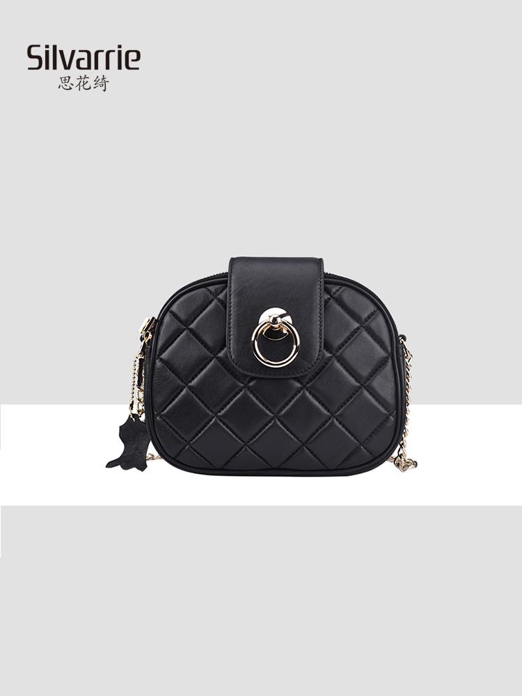 Womens bag 2019 new fashion trend one shoulder crossbite handbag rock style rivet leather womens bag