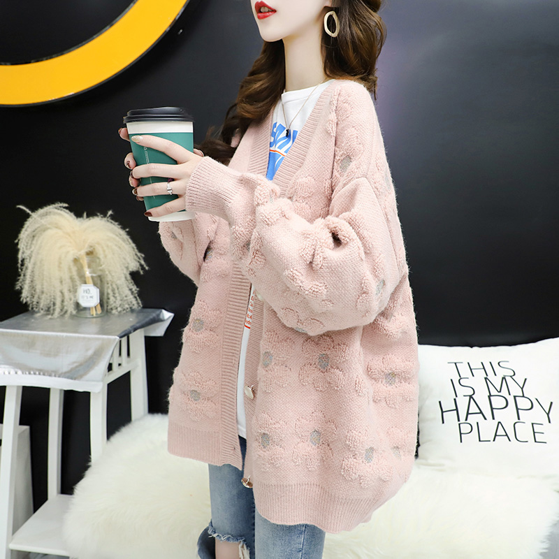 Fairy knitted cardigan, women's net red, lazy, loose, outside wearing spring clothes, 2020 new small fragrant sweater coat
