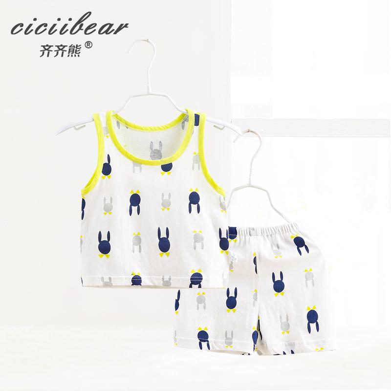 齊齊熊兒童寶寶純棉夏裝