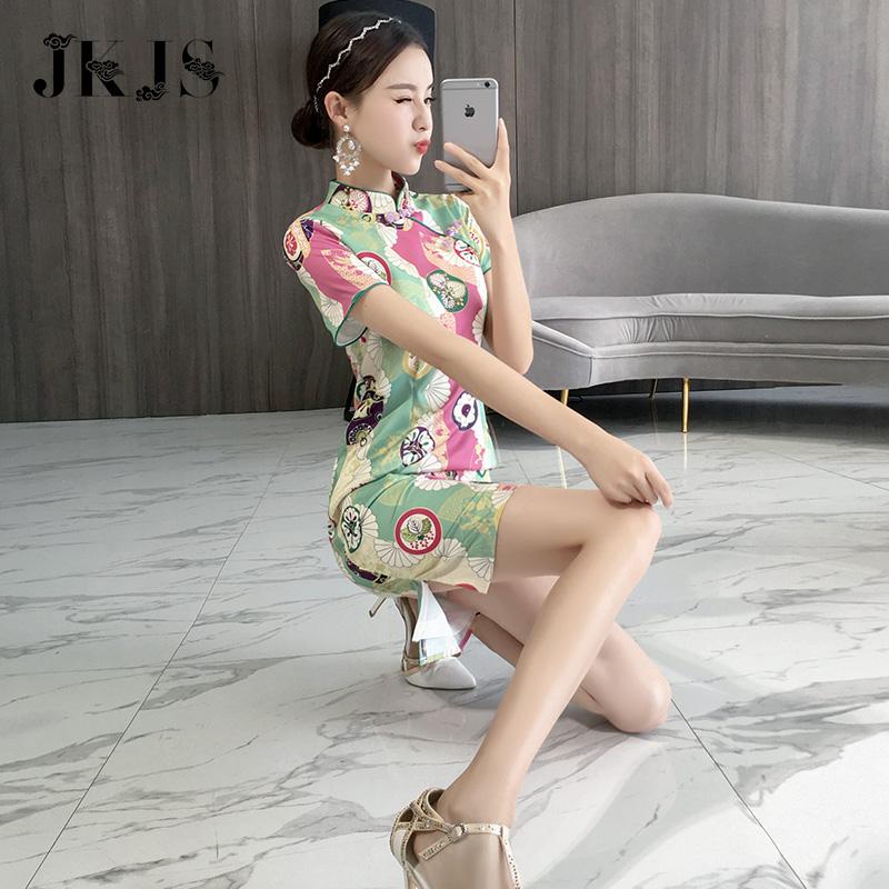 年轻旗袍夏季2018新款女中国风女装时尚少女改良版短款现代连衣裙
