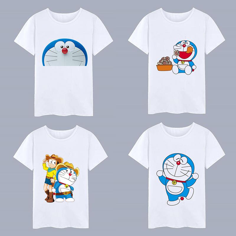 哆啦A梦T恤儿童大雄机器叮当猫潮图案静香胖虎女宽松短袖上衣服男图片