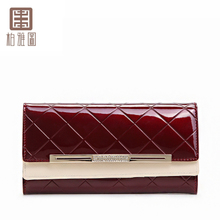Acto 72025 bill parker clip cowhide cross section change a long leather wallet card set of screens Female bag card
