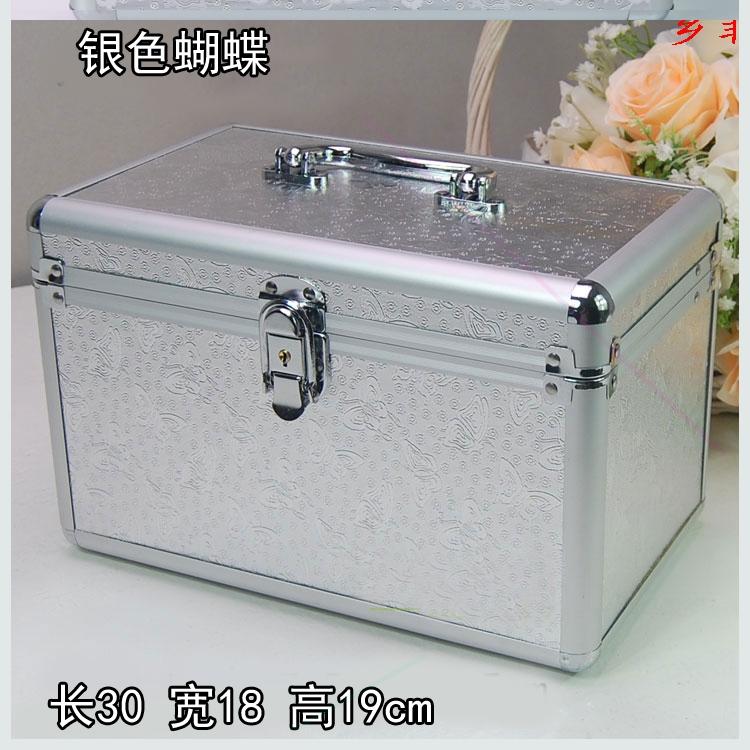 铝合金箱化妆箱美甲纹绣工具箱包足浴美容箱子足疗技师手提箱收纳