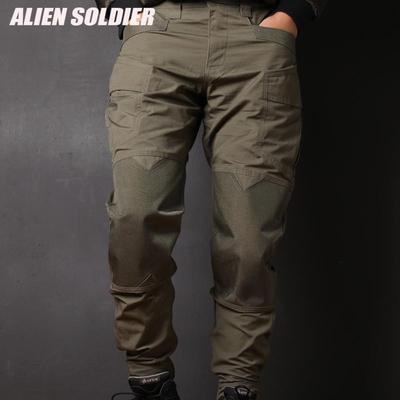 异种兵八代战术军迷裤男窄脚口作训工装多袋束脚裤子春秋户外服饰