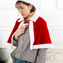 Christmas decorations plush Christmas hat shawl Christmas dress womens Christmas ball dress suit