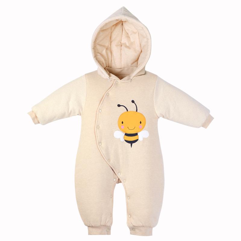婴儿衣服冬装爬服新生儿彩棉哈衣(用224元券)