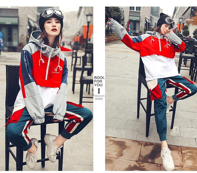 运动套装女帅气酷潮嘻哈街舞休闲宽松两件套网红学生个性原宿新款