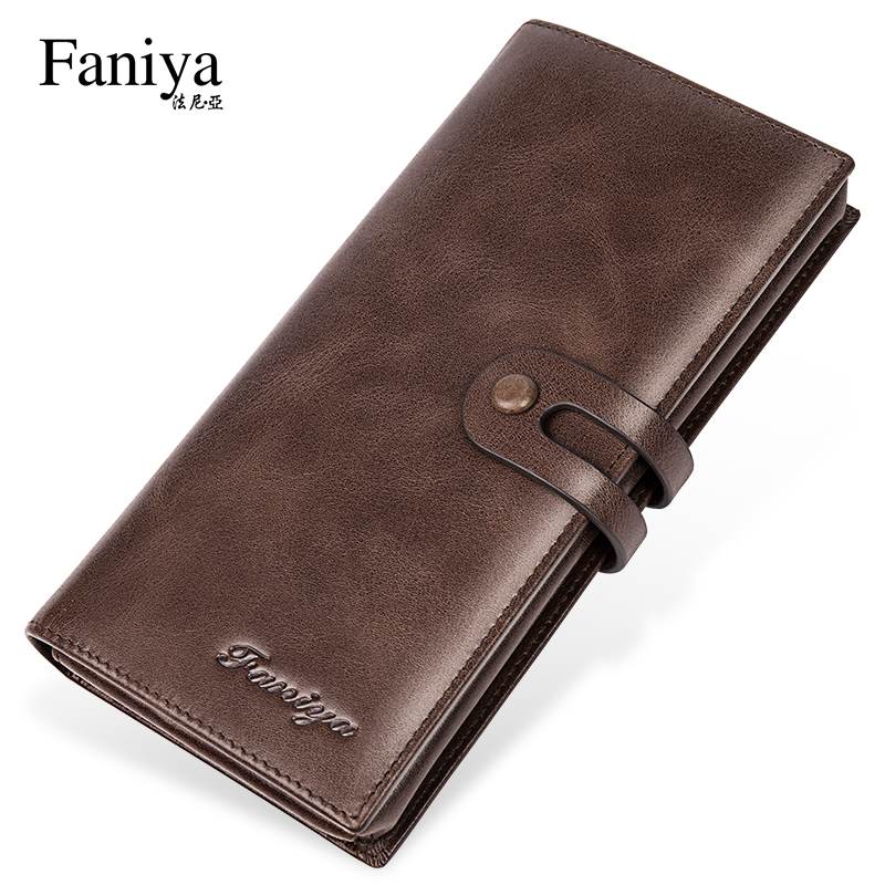 Men's wallet long 2020 new leather large-capacity cowhide multi-function card holder all-in-one men's wallet wallet