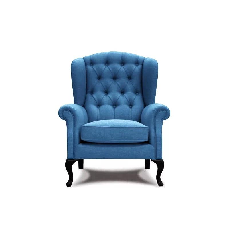 (用96元券)美式乡村老虎椅设计师卧室休闲椅小户型现代简约组合布艺单人沙发