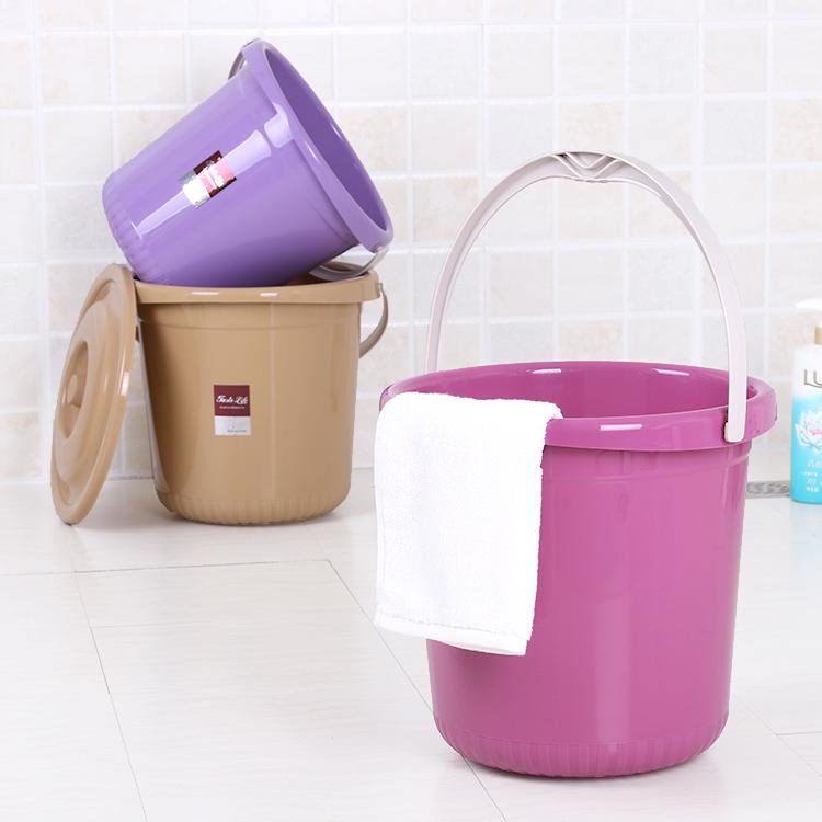 家用加厚耐摔大号塑料桶手提水桶洗衣桶洗车泡脚桶储水桶带盖小号