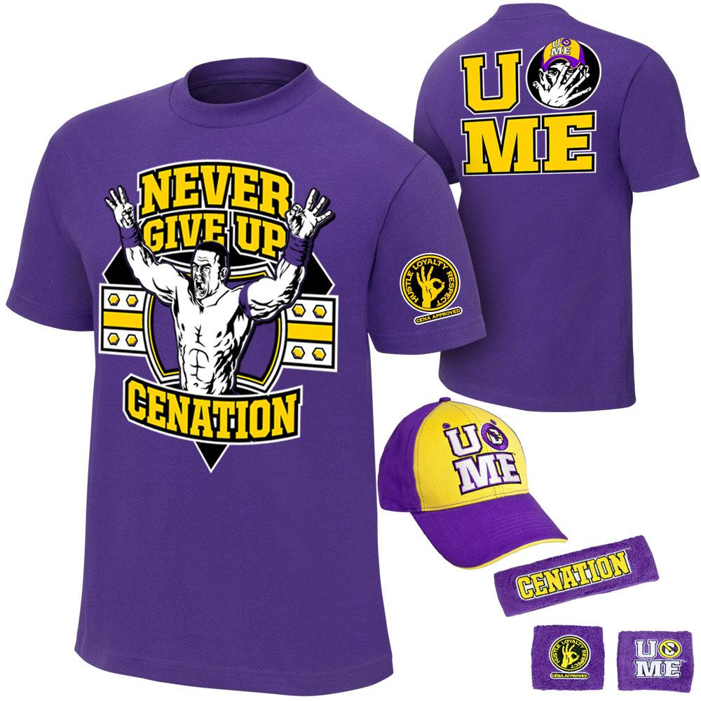 Борьба yuehansaina установить безумство 10-летний юбилей фиолетовый рубашка набор (рубашка + Cap + браслет)