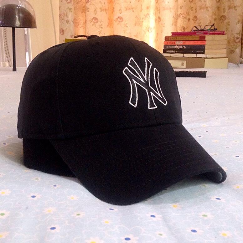 美国MLB 47Brand 休闲运动磨毛弯沿 NY洋基队 棒球帽鸭舌帽子硬顶