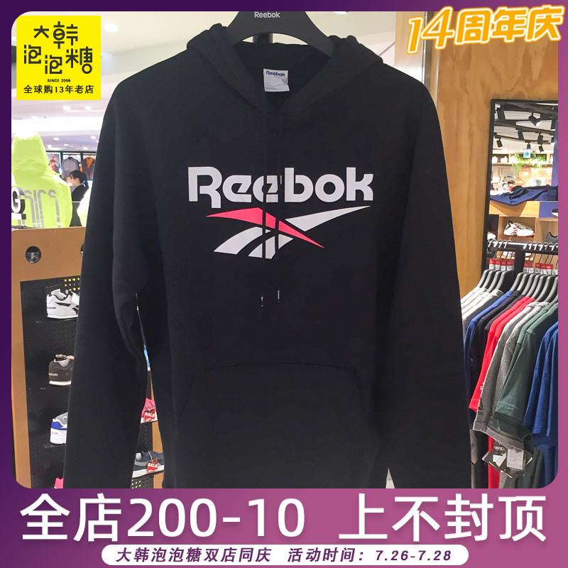 韩国代购REEBO/锐步K男士休闲字母连帽运动卫衣大韩泡泡糖DW9519