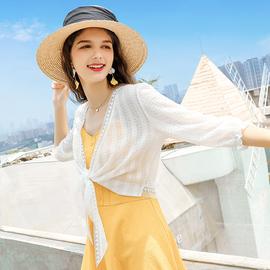 雪纺上衣女夏季外搭短款蕾丝防晒开衫配裙子披肩洋气小衫时尚外套