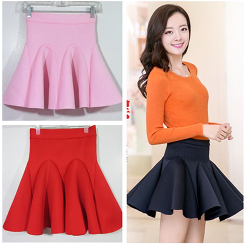 16 зимних женщин юбки Корейский пространства хлопка юбка пачка юбки высокой талией и положить юбкой воланом зонтик
