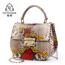 Gothic imported boa constrictor leather handbag