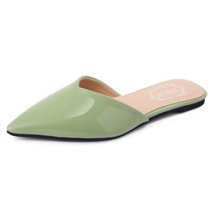 拖鞋女夏季2020新款包頭平跟懶人涼拖鞋子平底尖頭時尚外穿半拖鞋