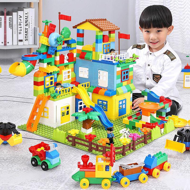 兼容乐高积木大颗粒1益智拼装3男孩子女孩城市2宝宝6儿童玩具系列