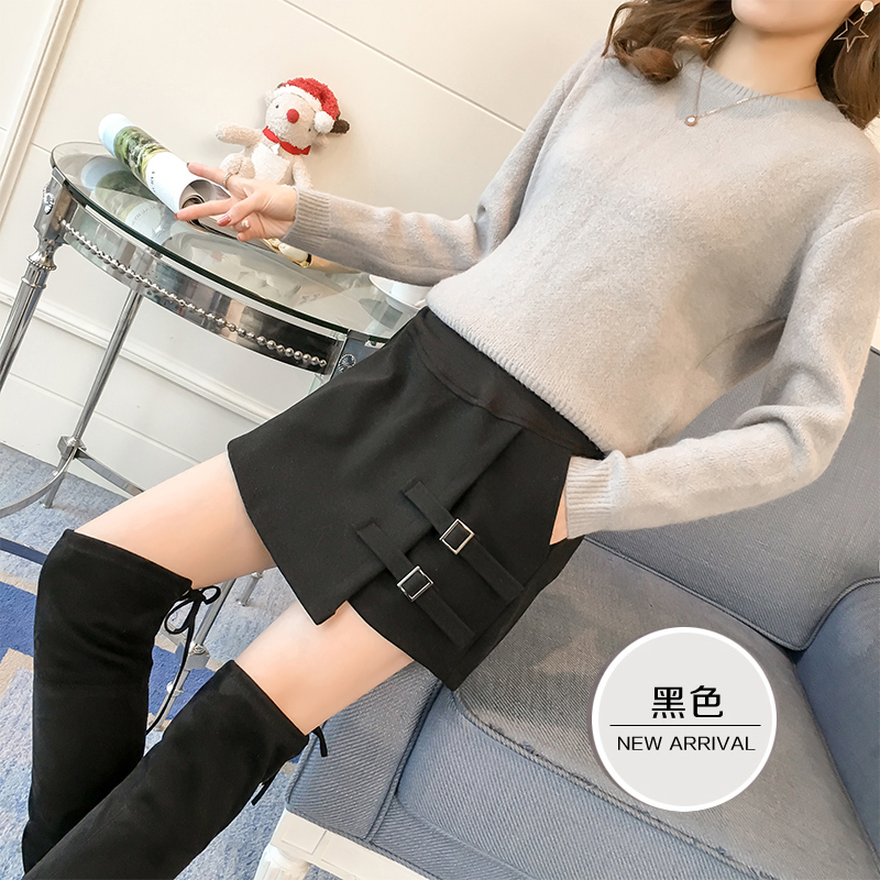 Pregnant womens shorts autumn and winter wear Korean fashion thin skirt pants winter clothes with belly support bottom short pants and fashionable mothers boots pants