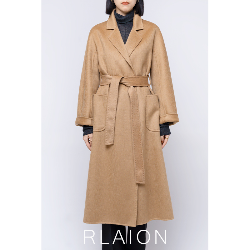 Its only 30 yuan, the same as Gu Jia M@xMar Water ripple bathrobe labbro coat womens Handmade double faced wool coat