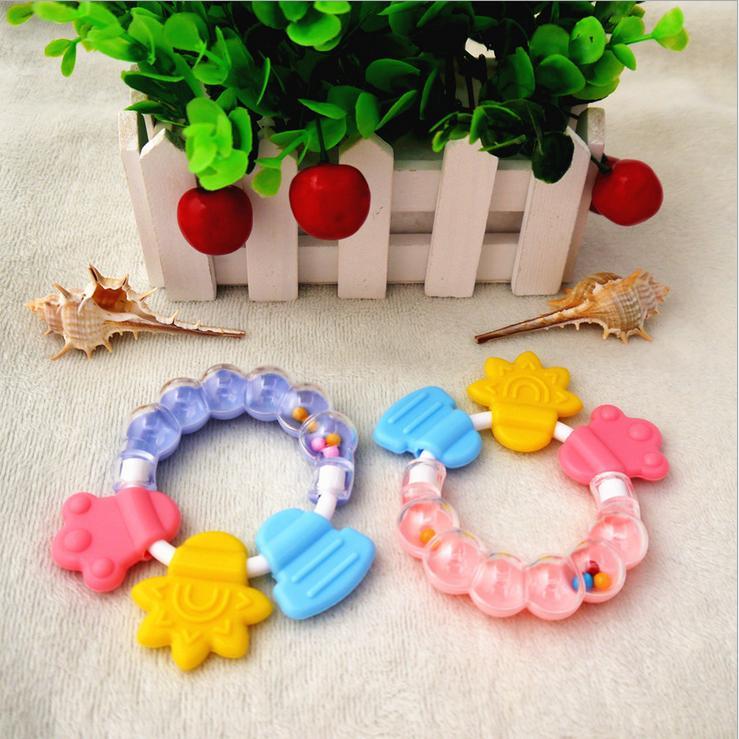 婴儿玩具0-1岁小孩摇铃0-3-6-12个月新生儿女宝宝手摇铃牙胶玩具