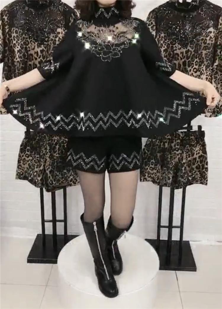 欧洲站秋季新款立领娃娃款烫钻上衣(用130元券)