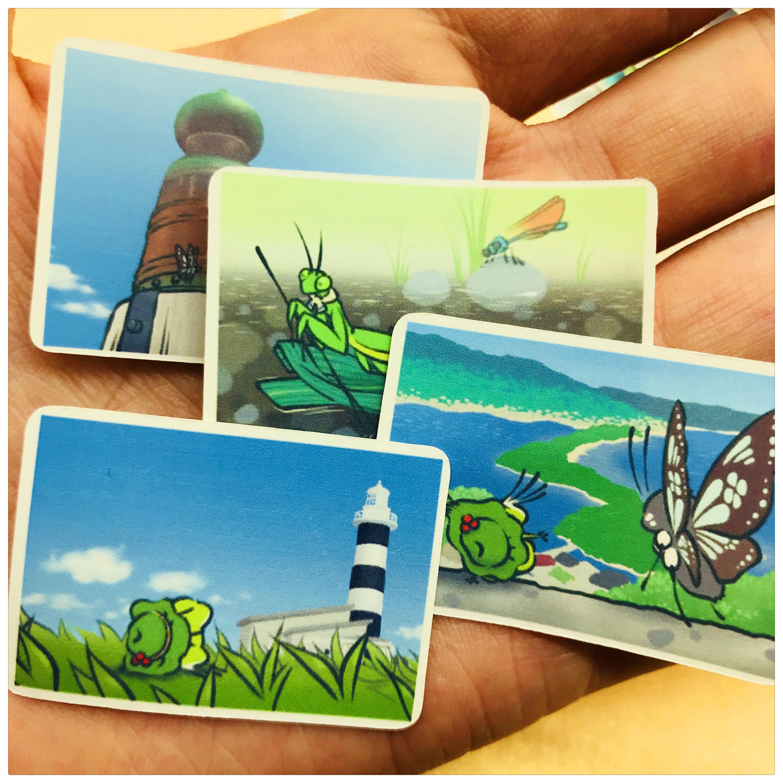 手帐贴纸包 旅行青蛙 写真 31枚入 手账贴纸相册装饰 25元包邮