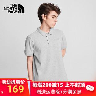 TheNorthFace北面短袖POLO男2020春夏新品户外柔軟舒適T恤4997