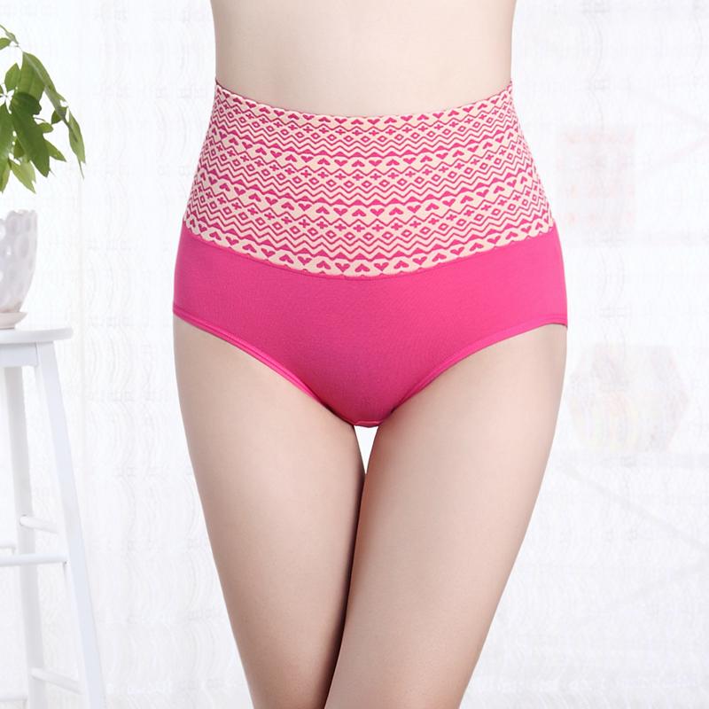 加厚保暖内裤高腰收腹提臀棉质面料女士纯棉产后塑身三角裤