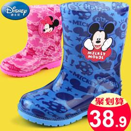 迪士尼儿童雨鞋男童女童幼儿宝宝小童雨靴学生胶鞋中大童水鞋防滑