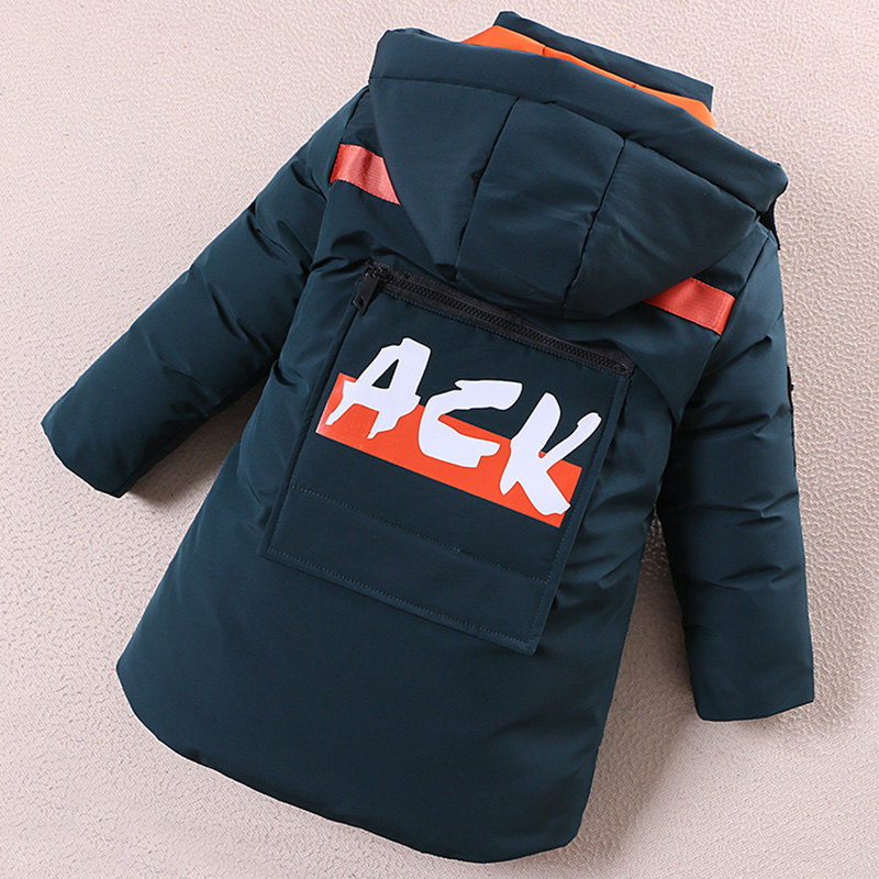 Childrens cotton padded jacket boys down cotton padded jacket 2020 new Korean version of CUHK childrens clothing winter coat thickened coat medium length