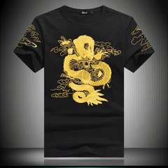 2018夏款 重工刺绣修身短袖T恤 电商D252 8864 P55 平铺