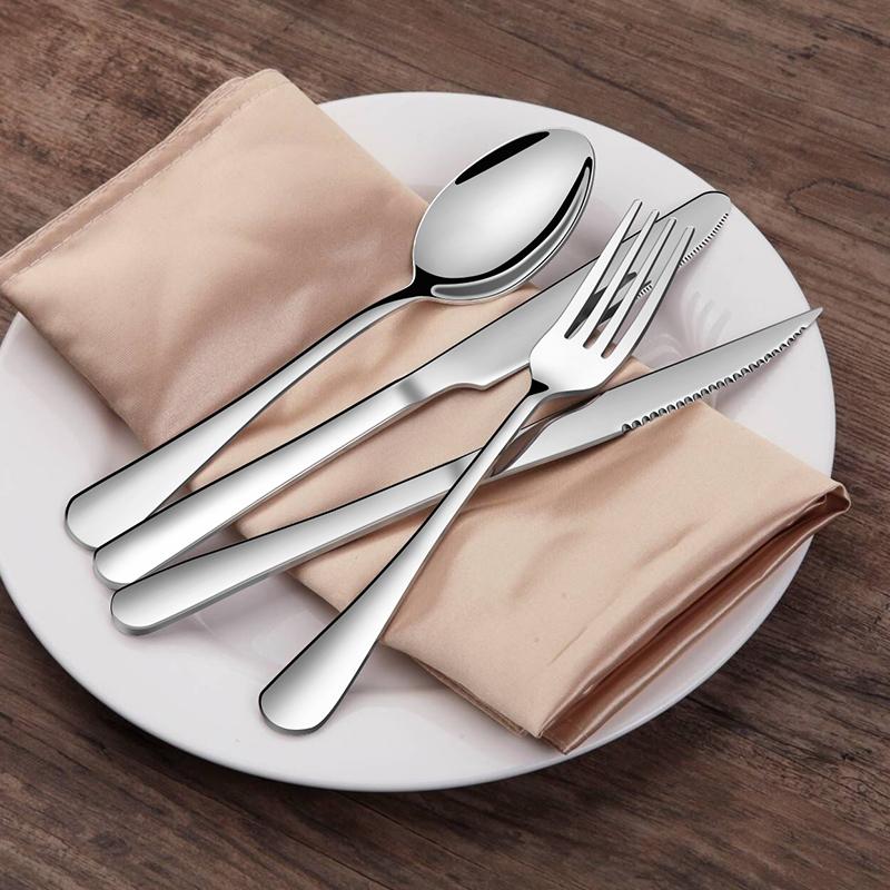 牛排刀叉勺盘子套装高档家用网红吃的三件套全套儿童餐具西餐刀叉