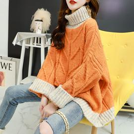 秋冬高领毛衣女韩版宽松外穿2020新款慵懒风百搭加厚粗线上衣外套