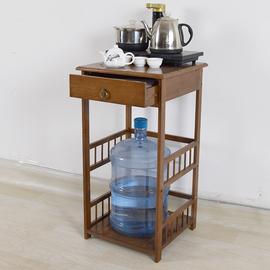 小茶几茶桌边柜饮水机水桶架实木客厅烧水壶架置物架茶台茶水柜子