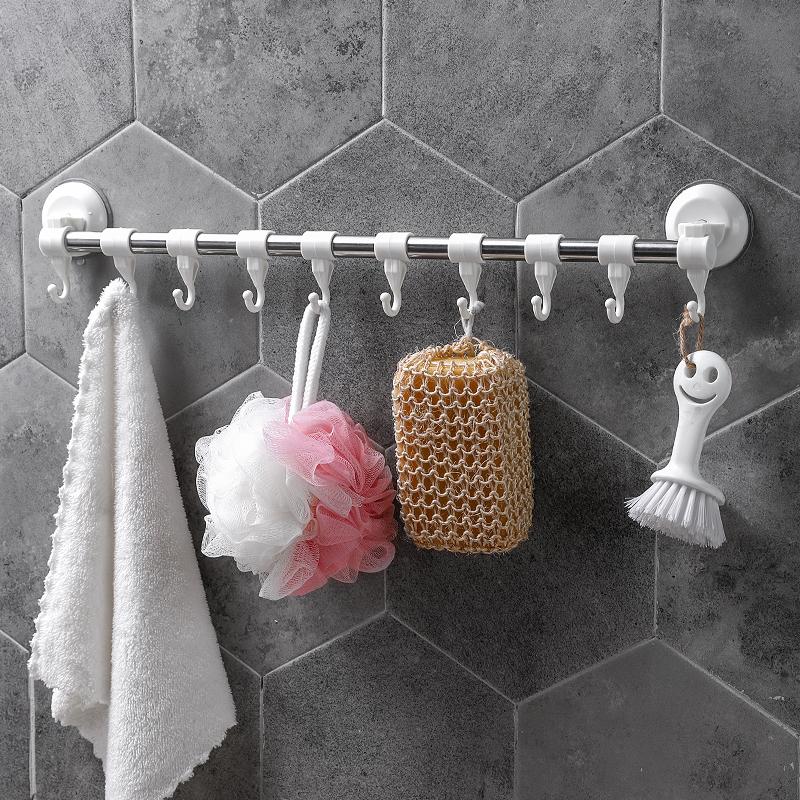 创意强力真空吸盘毛巾挂钩厨房浴室无痕多功能挂架门后塑料壁挂钩